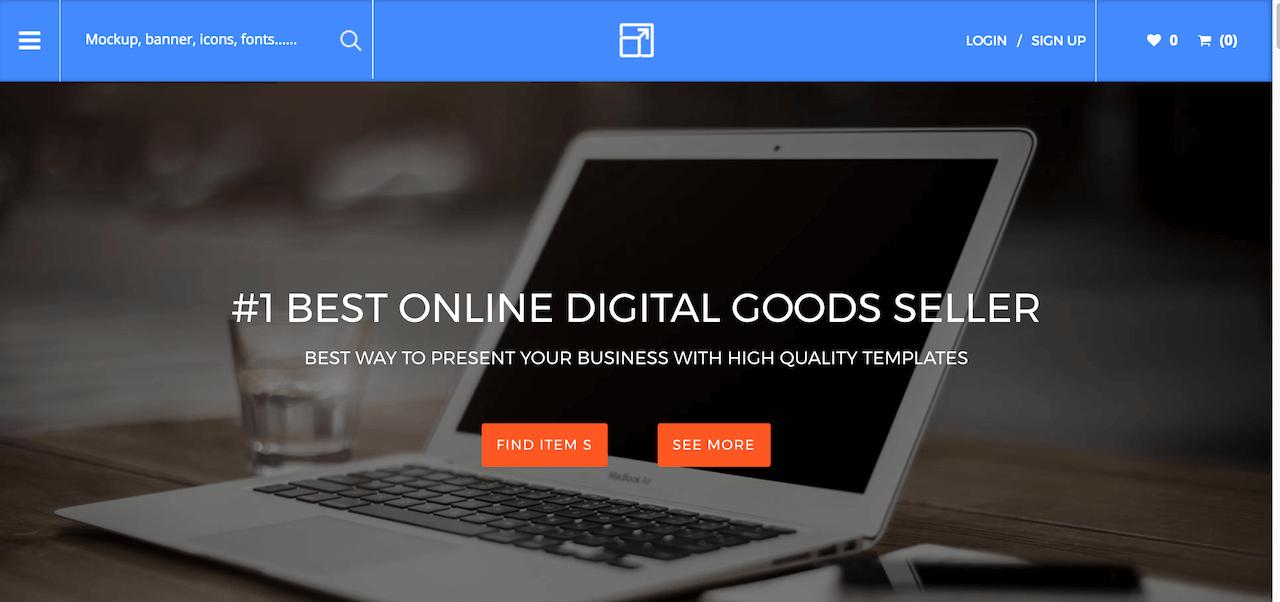 Restauré - Conception du site Web du marché en ligne