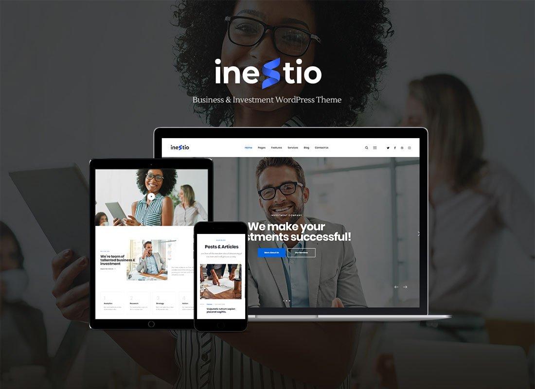 Inestio - Thème WordPress professionnel et créatif
