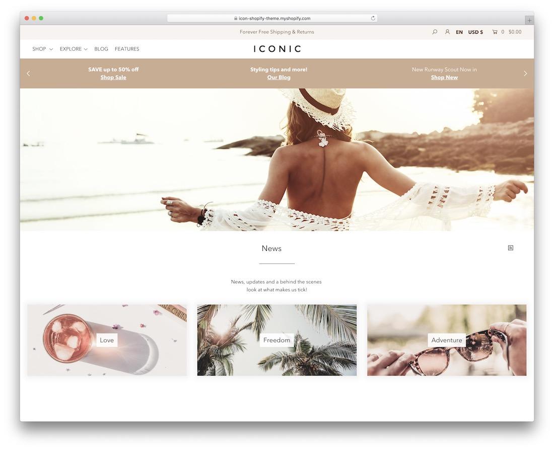 thème du blog icône shopify