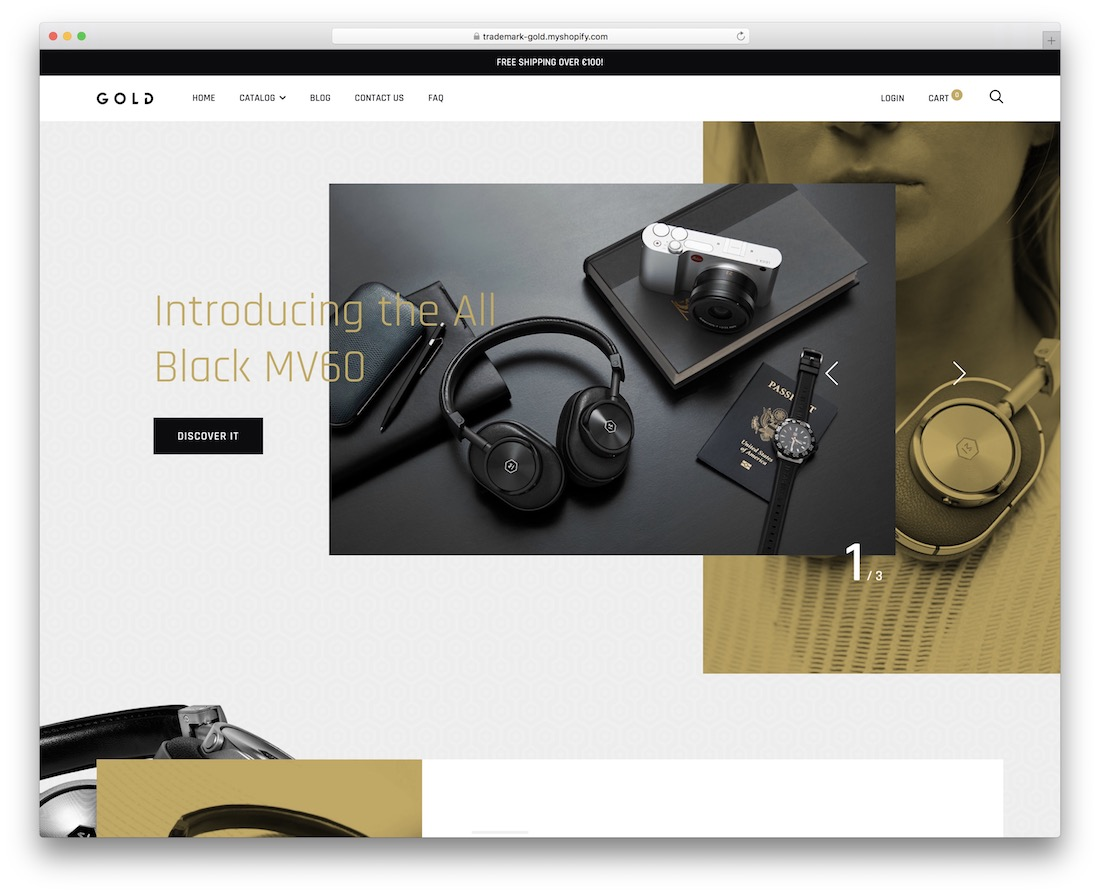 thème Shopify de la marque Retina