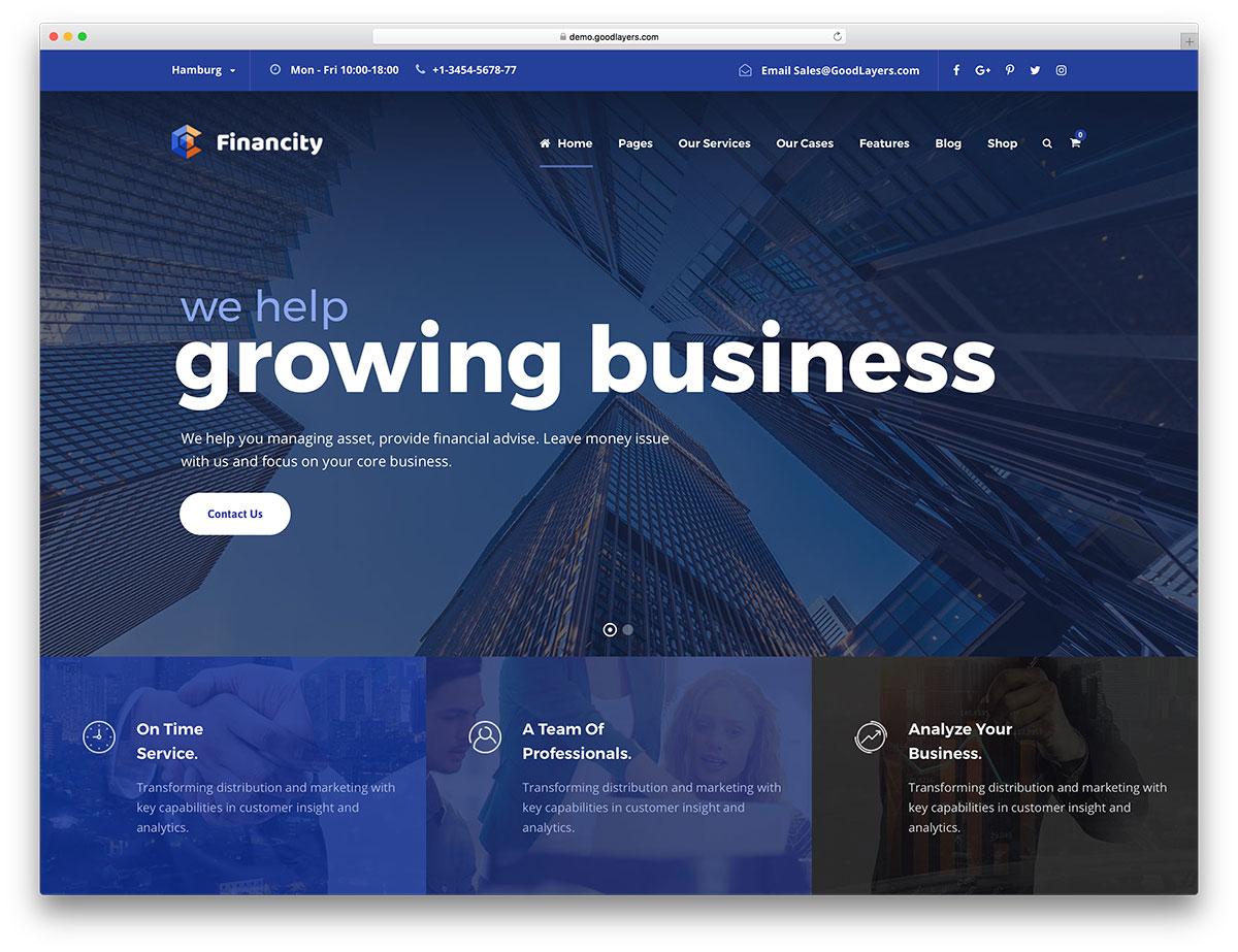 Thèmes de finance WordPress