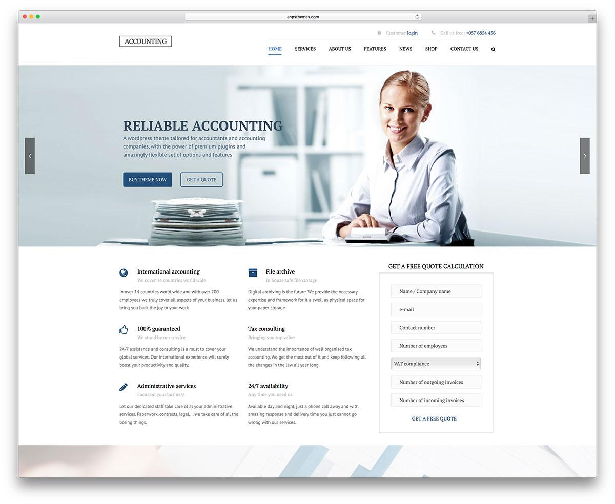 comptabilité-simple-wordpress-site-web-modèle