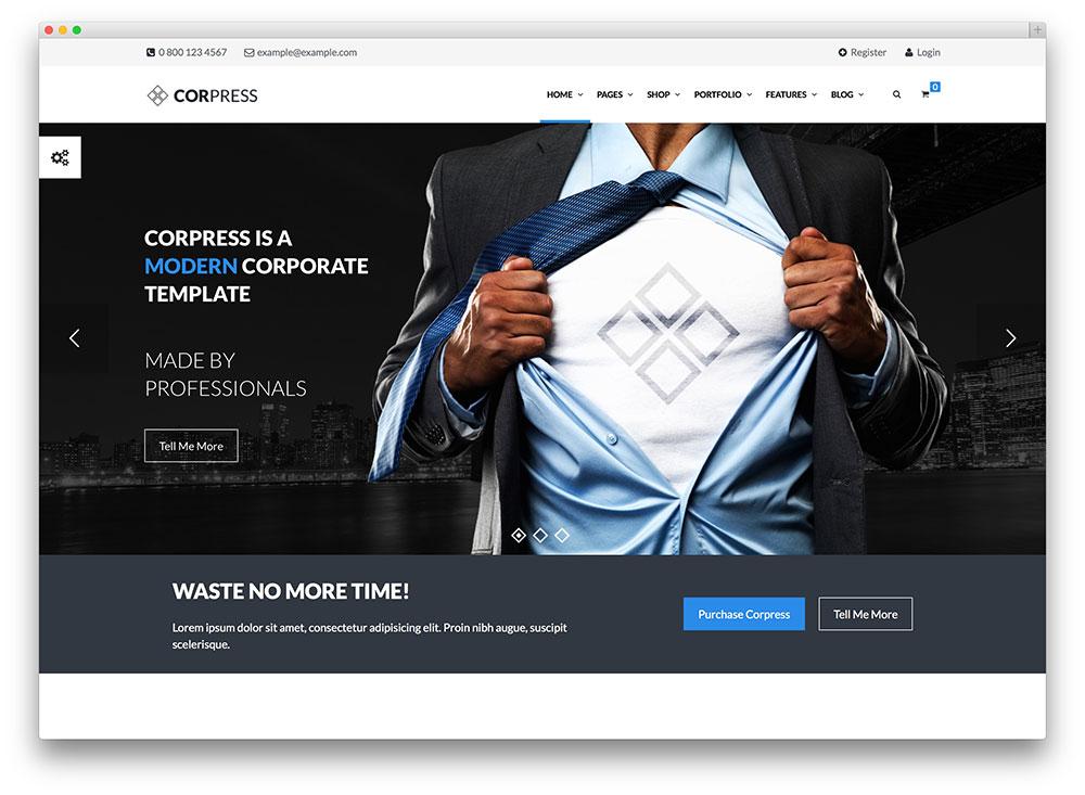 corpress ready finance business wordpress theme