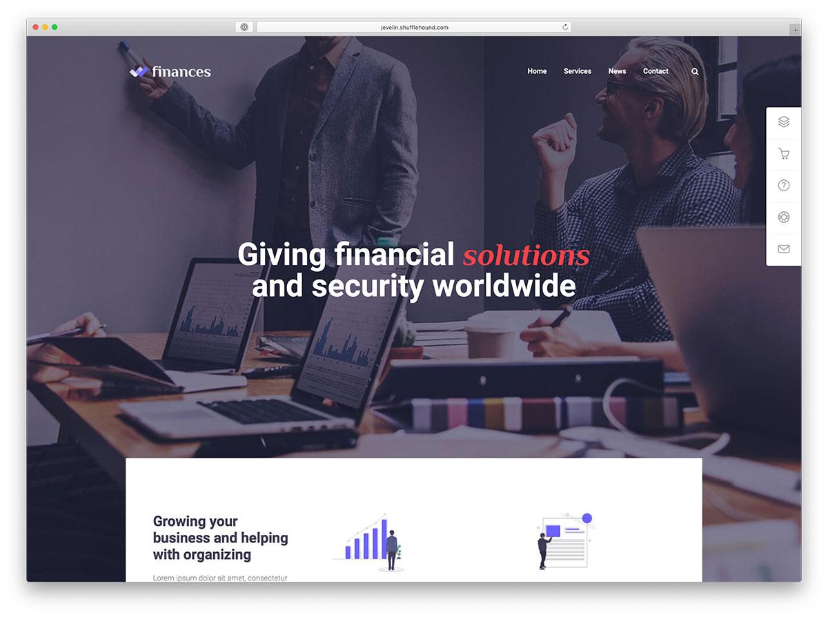 thèmes WordPress financiers