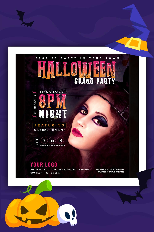 Modèle d'identité d'entreprise Halloween Grand Party Flyer