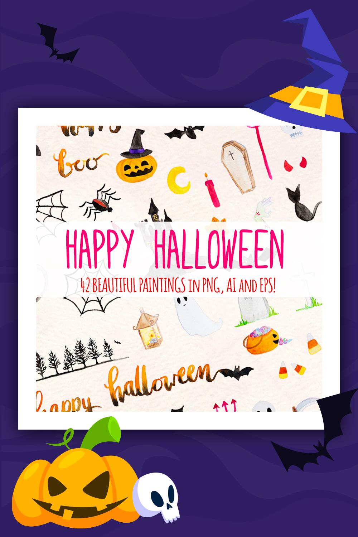 42 Illustration des éléments fantasmagoriques d'Halloween