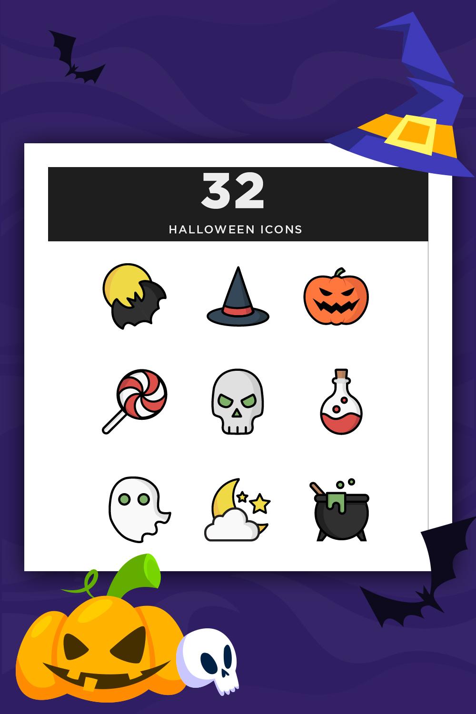 Modèle d'illustration Iconset Halloween