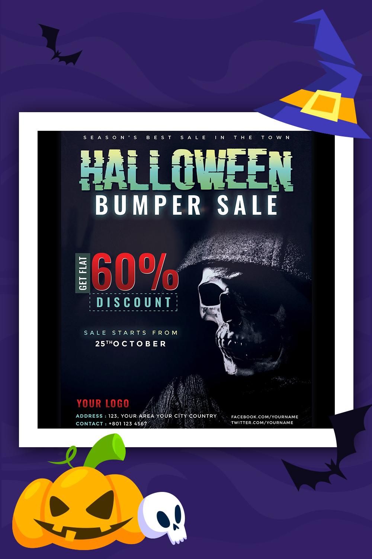 Modèle d'identité corporative Flyer Sale Bumper Halloween