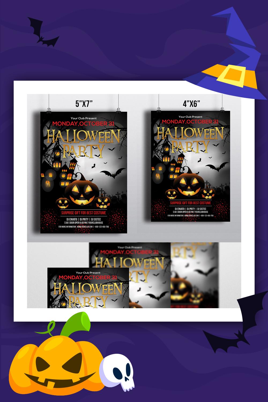 Modèle d'identité d'entreprise Flyer Party Halloween