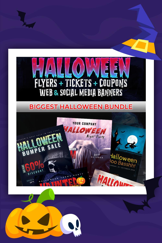 Grand pack Halloween - Modèle d'identité d'entreprise