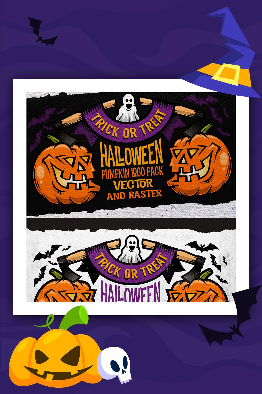 Illustration de jeu de logo Halloween Pumking