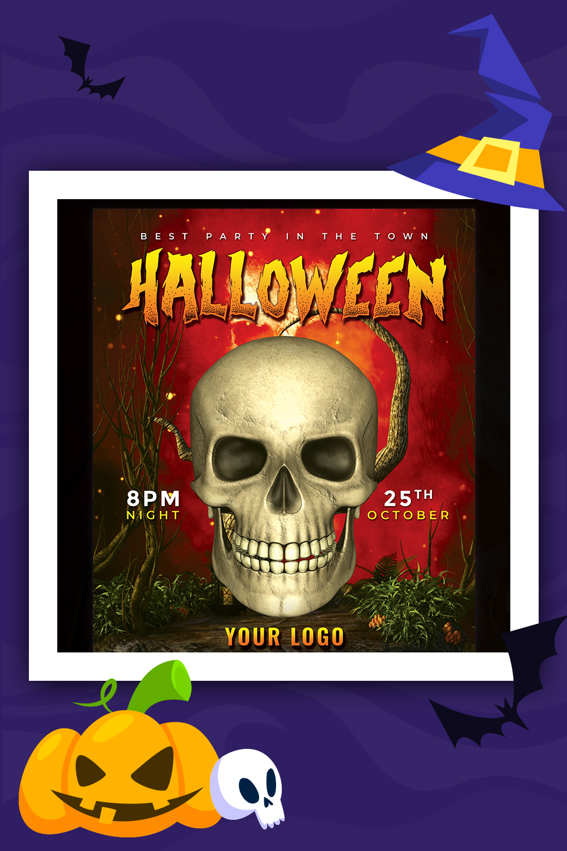 Flyer de fête d'Halloween - Modèle d'identité d'entreprise PSD