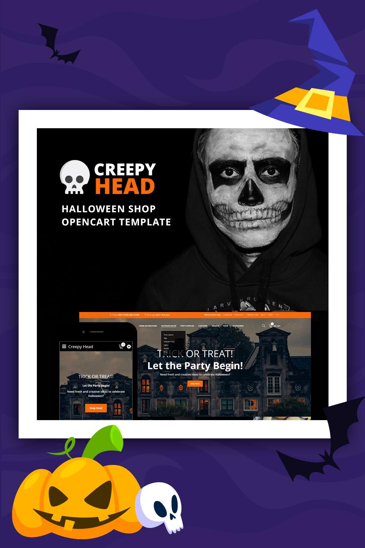 Tête effrayante - Modèle OpenCart de la boutique Halloween