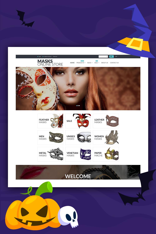 Masques - Modèle de magasin de divertissement Shopify