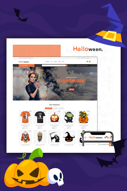 Thème PrestaShop de la boutique Halloween