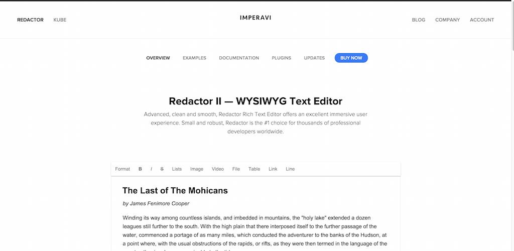 Rédacteur éditeur WYSIWYG html
