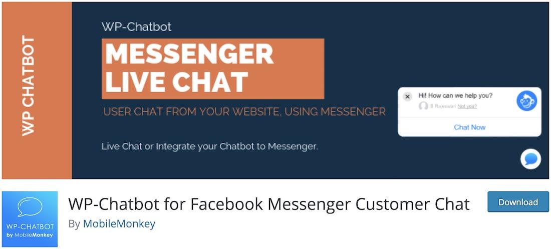 wp chatbot facebook messenger
