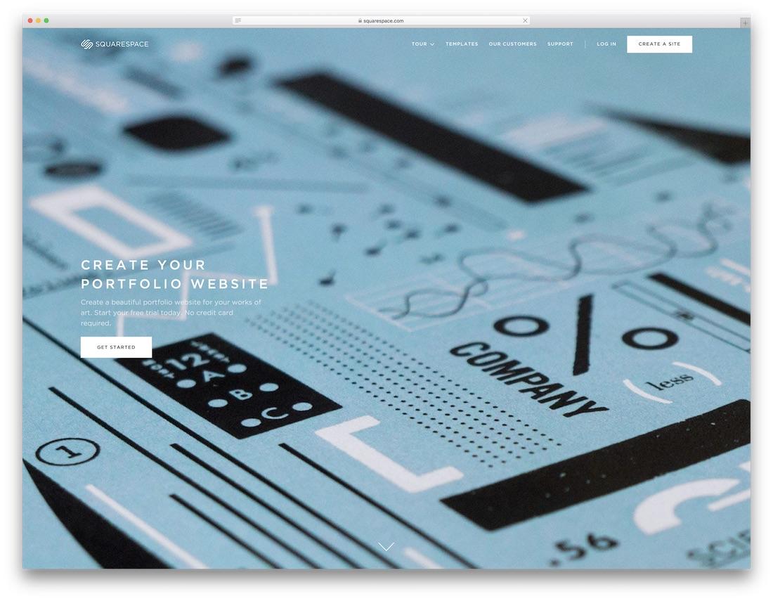squarespace meilleur constructeur de sites Web pour les artistes
