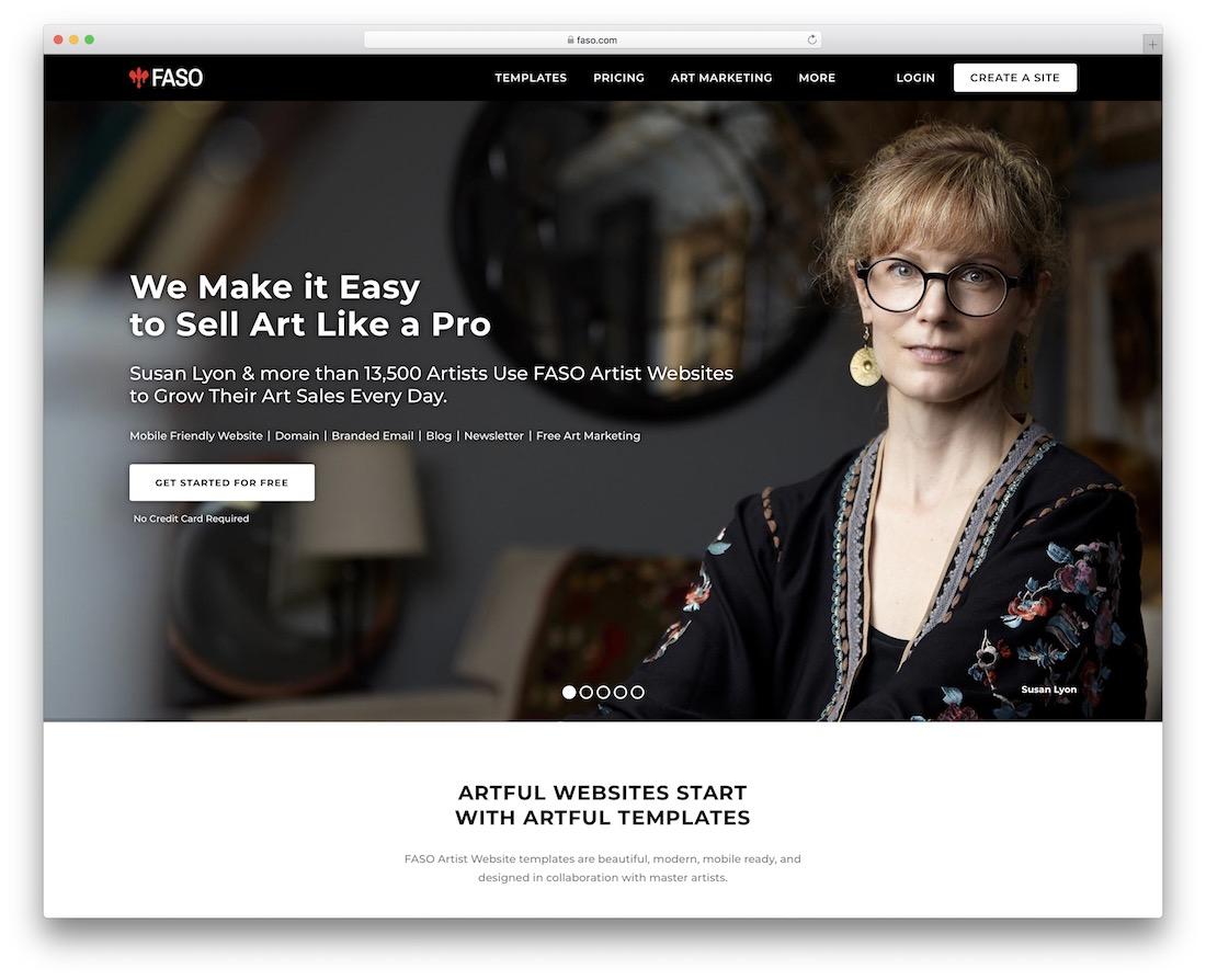 constructeur de sites web faso pour artistes
