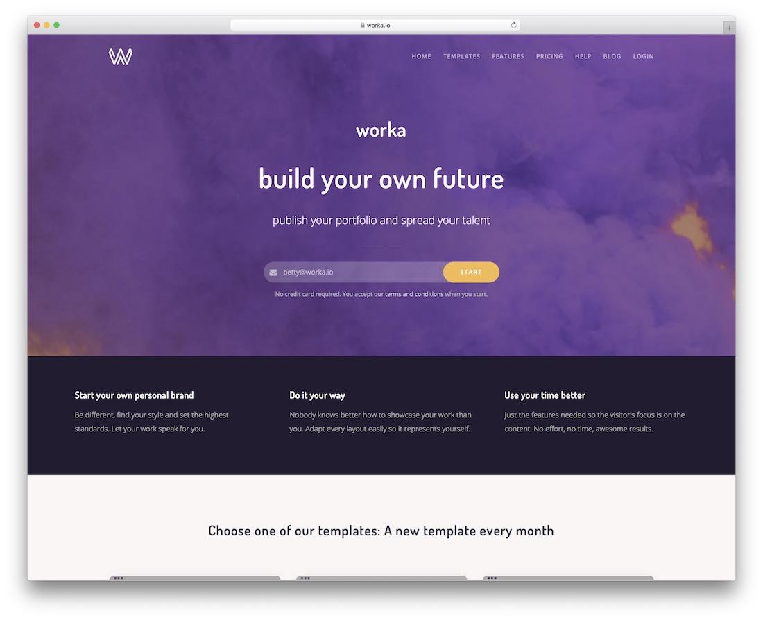 worka website builder pour les artistes