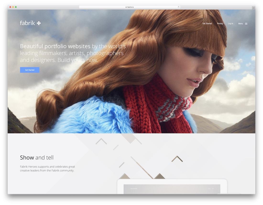 Fabrik meilleur constructeur de site Web pour les artistes