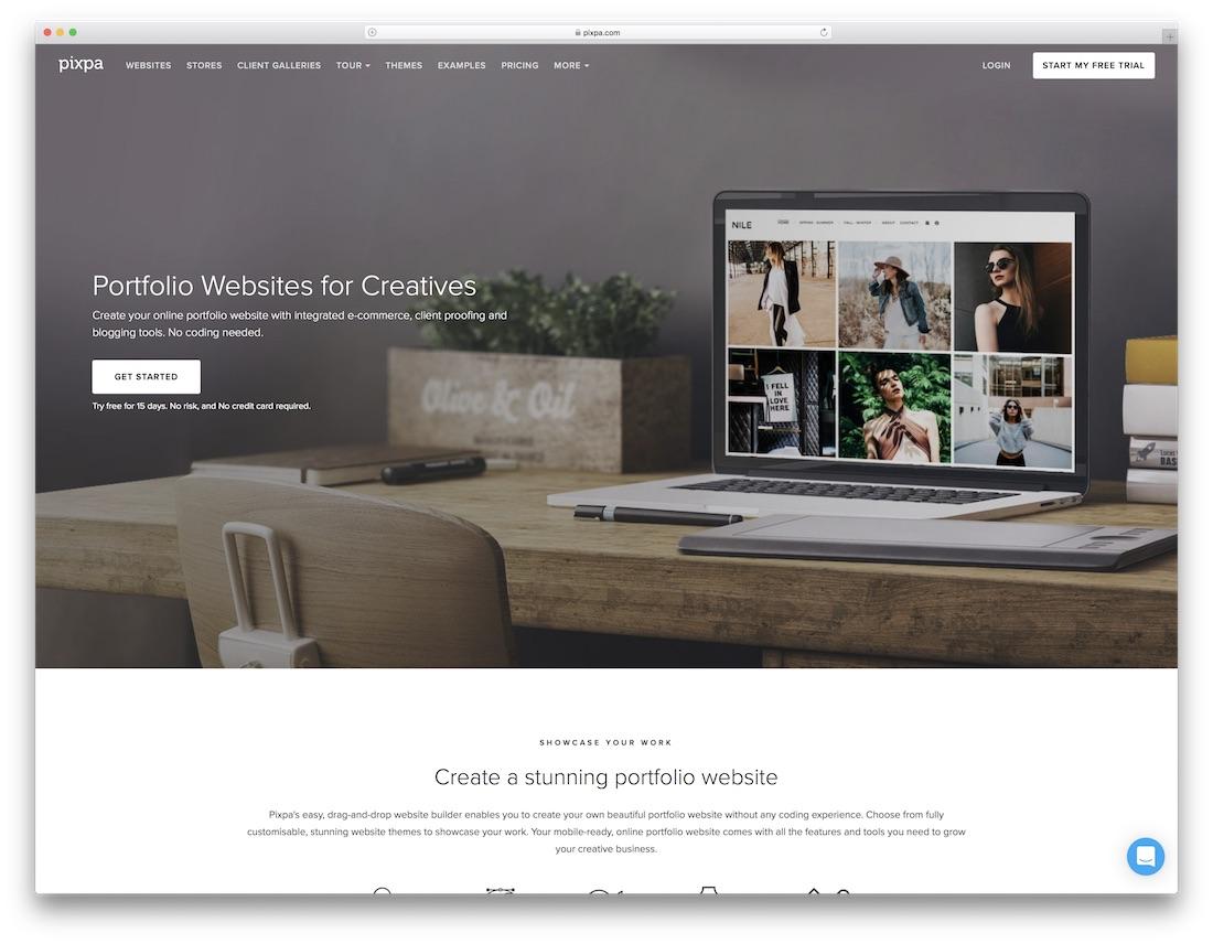 pixpa meilleur constructeur de sites Web pour artistes