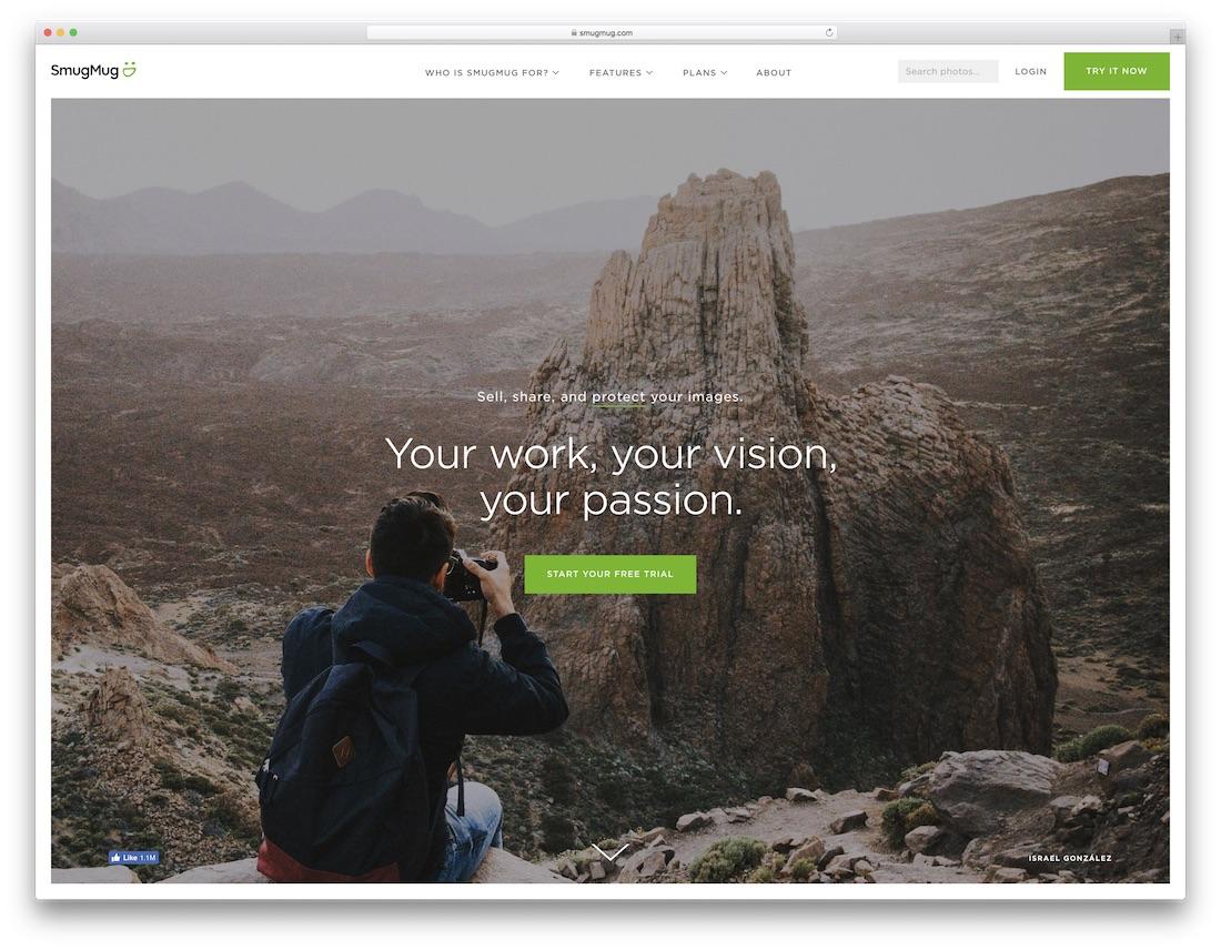 smugmug meilleur constructeur de site web pour artistes