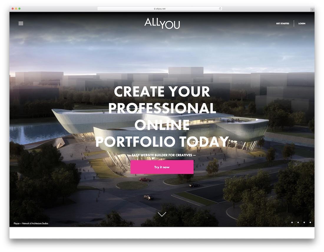 allyou meilleur constructeur de sites Web pour artistes