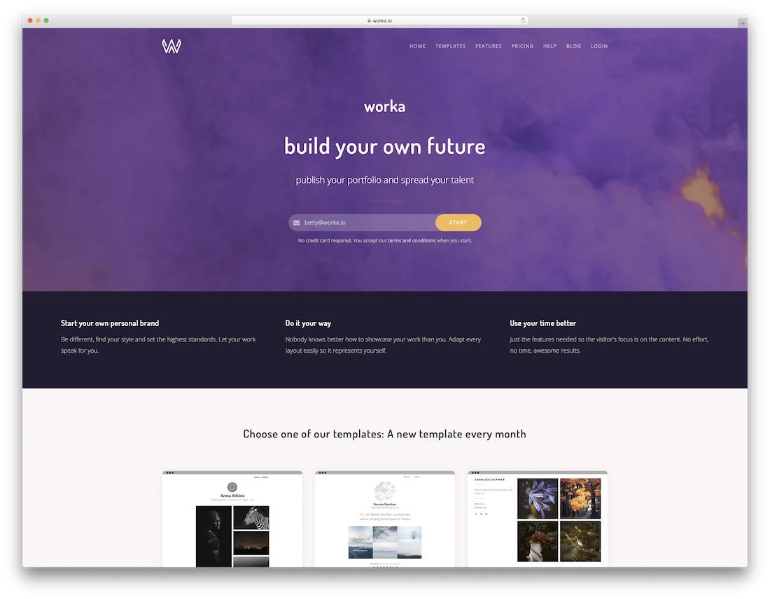 un meilleur constructeur de sites Web pour les artistes