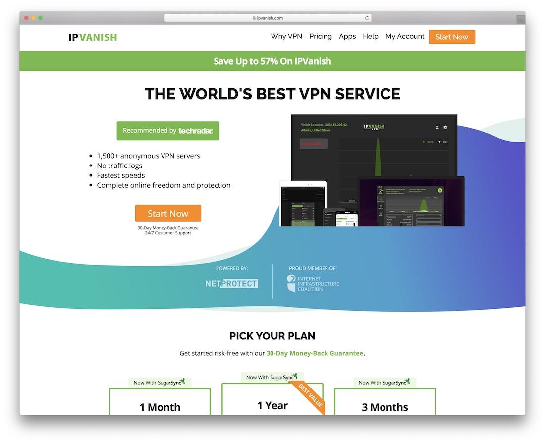 service VPN ipvanish