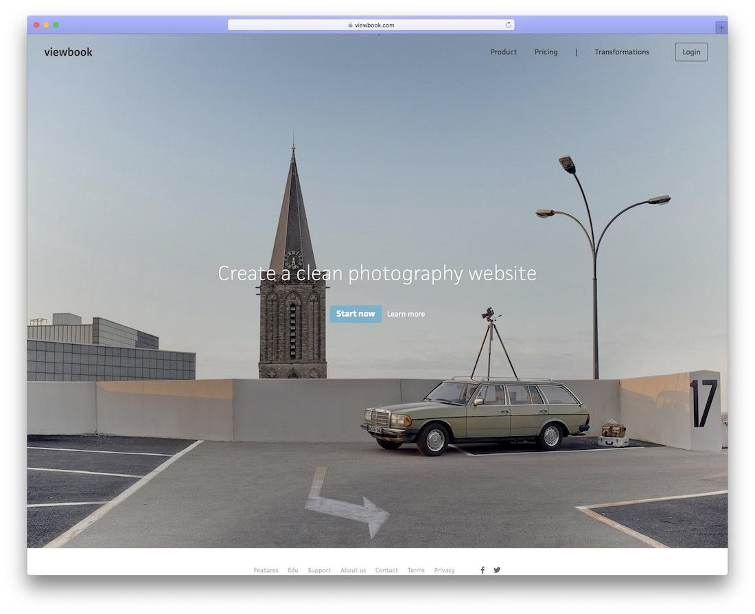 site Web de portfolio de construction de viewbook