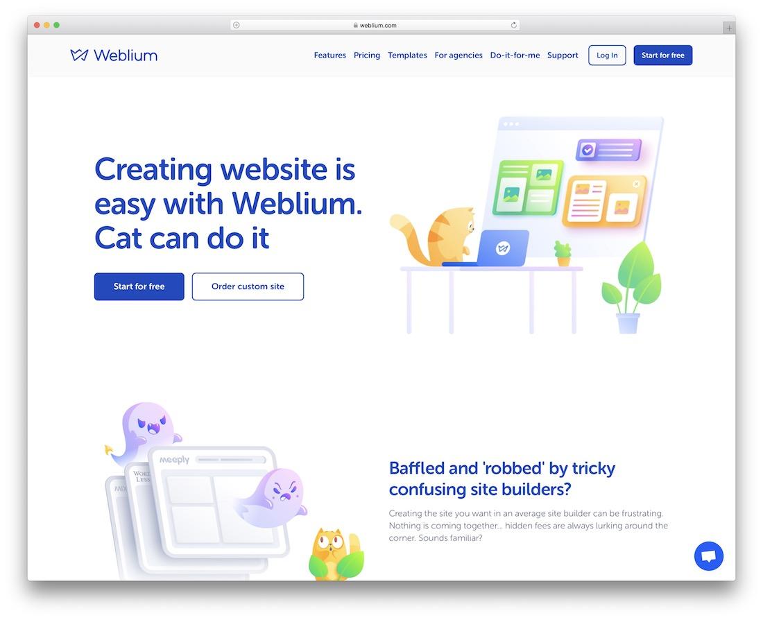 constructeur de site Web de portfolio weblium