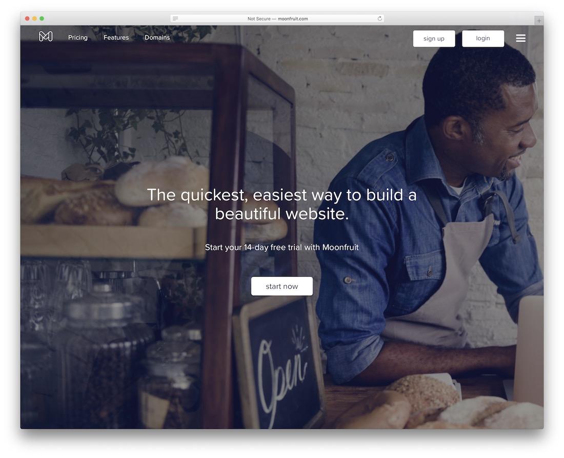 Site Web du portfolio de construction de moonfruit