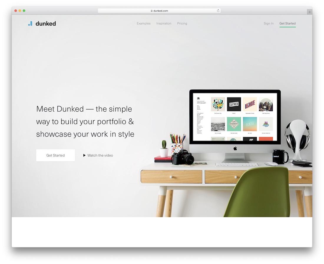 portfolio en ligne dunked build
