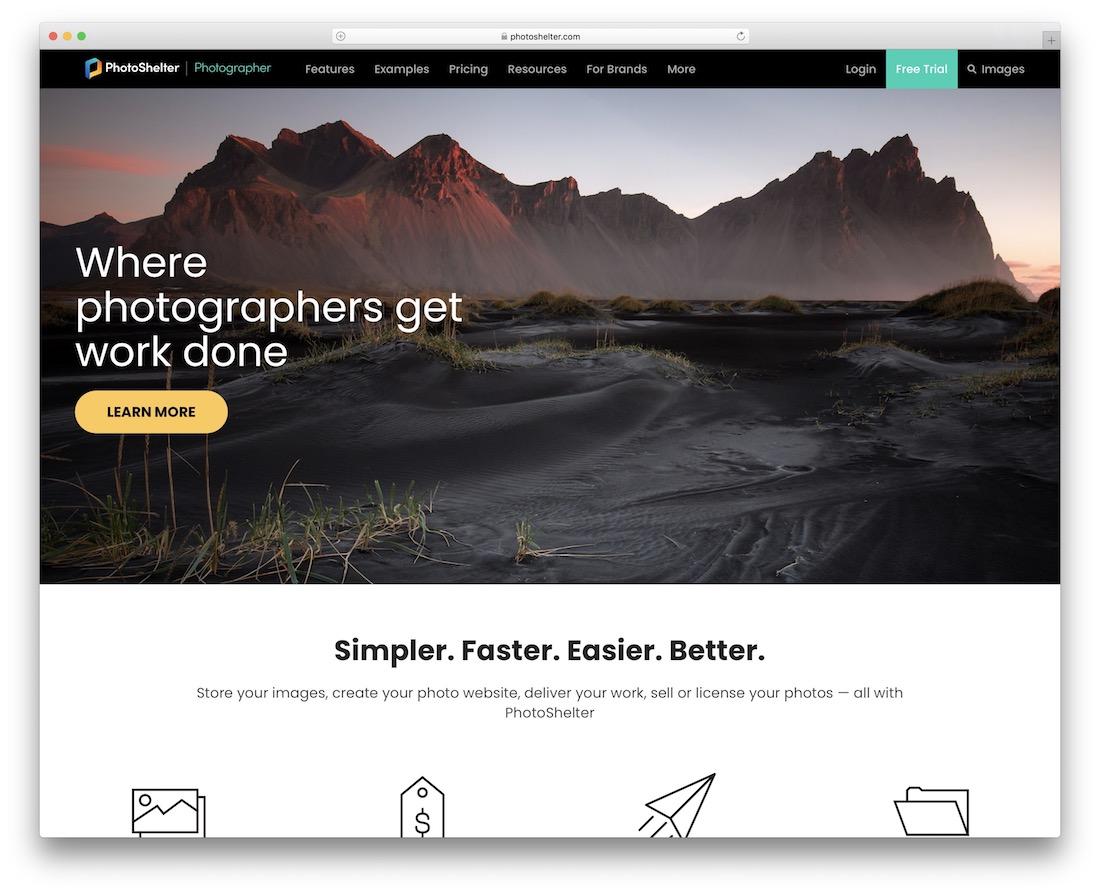 site Web du portfolio de construction de photoshelter