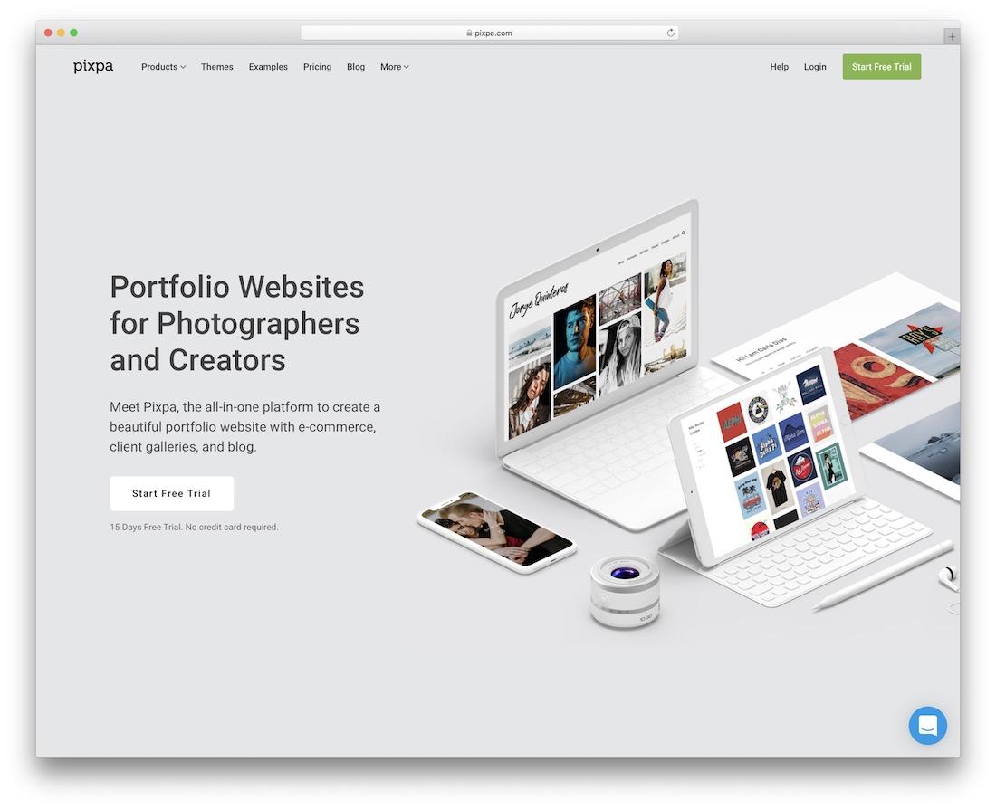 site Web de portfolio pixpa build pour les photographes et les créateurs