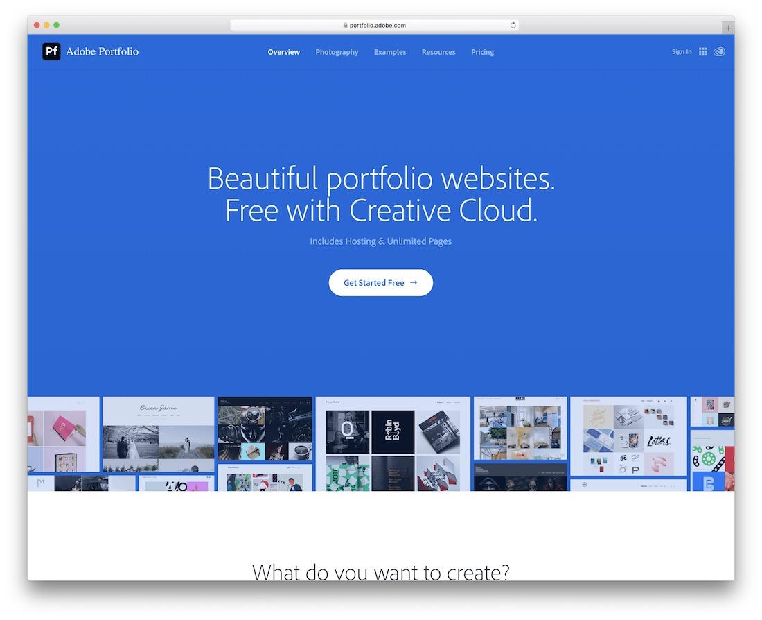 adobe portfolio build portfolio site Web