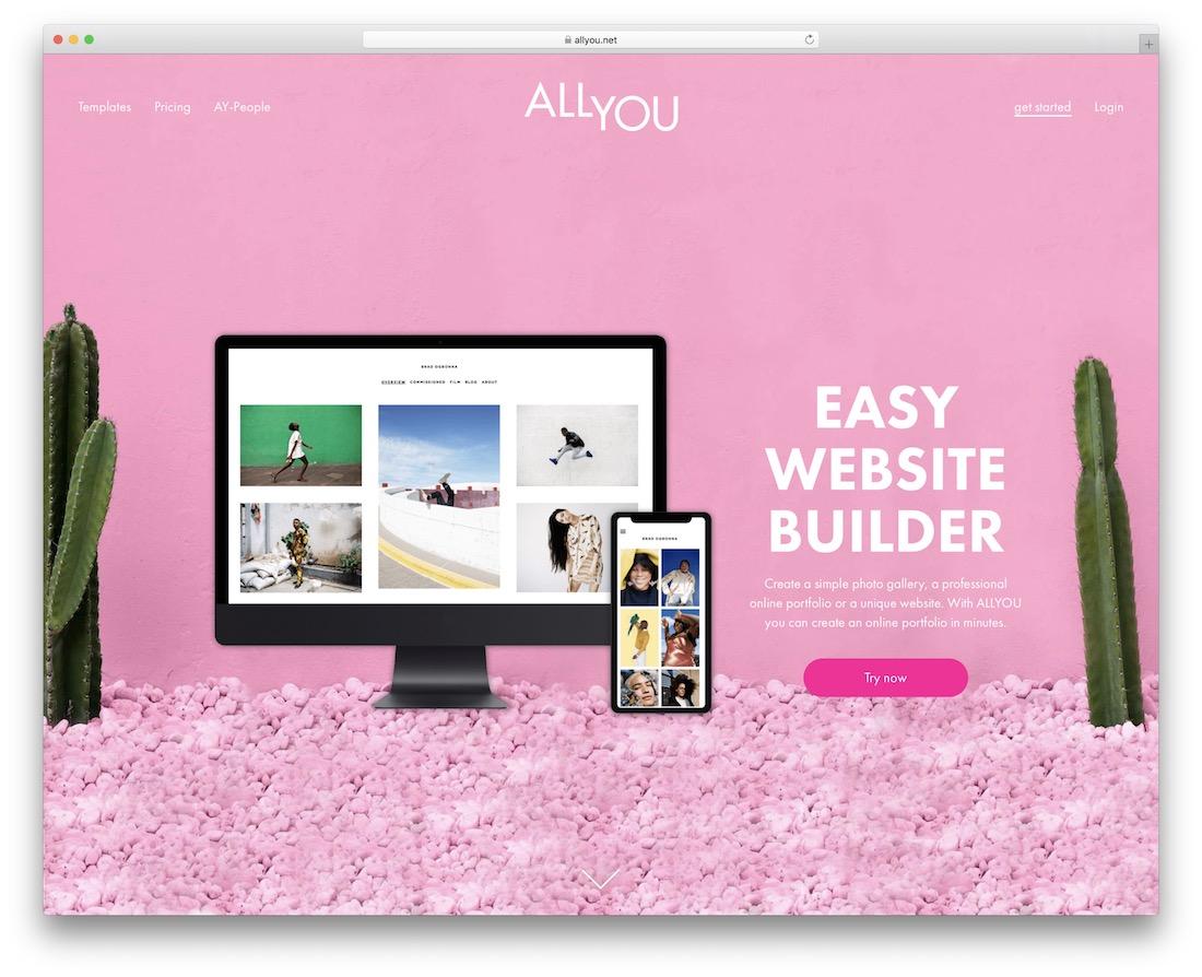 site web du portfolio allyou build