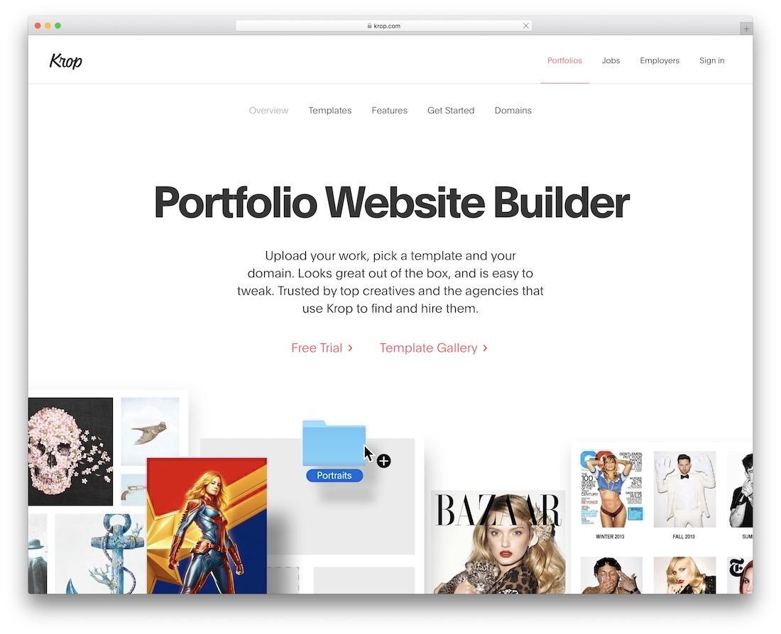 site Web du portfolio krop build