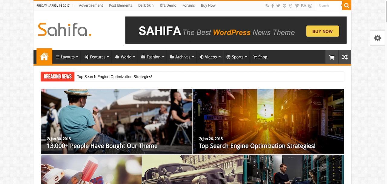 Sahifa - Thème WordPress RTL
