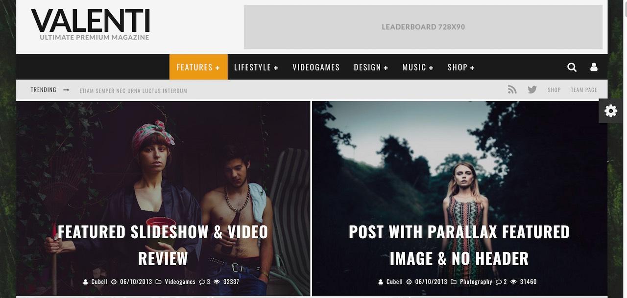 Valenti - Thème WordPress pour magazine avec prise en charge du texte de droite à gauche