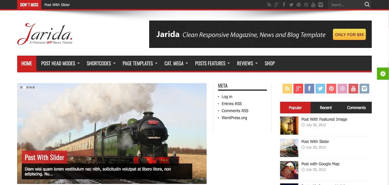 Jarida - Thème d'actualité avec support RTL