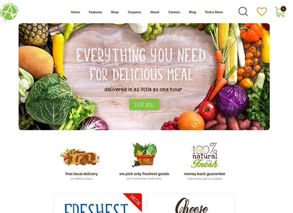 A-Mart - Thème WordPress pour boutique de produits biologiques