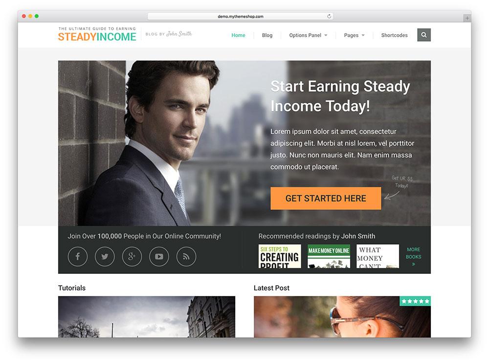 stabilincome - thème commercial en ligne