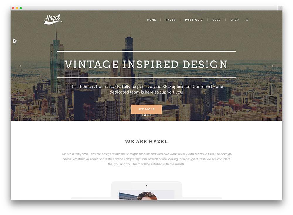 hazel vintage multipurpose wordpress theme
