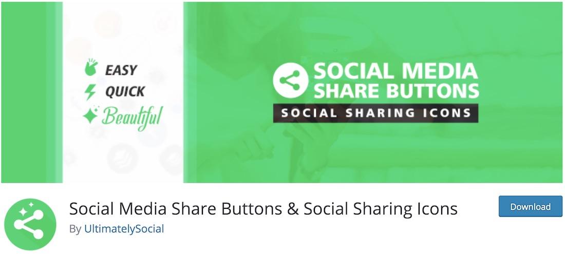 boutons et icônes de partage de médias sociaux