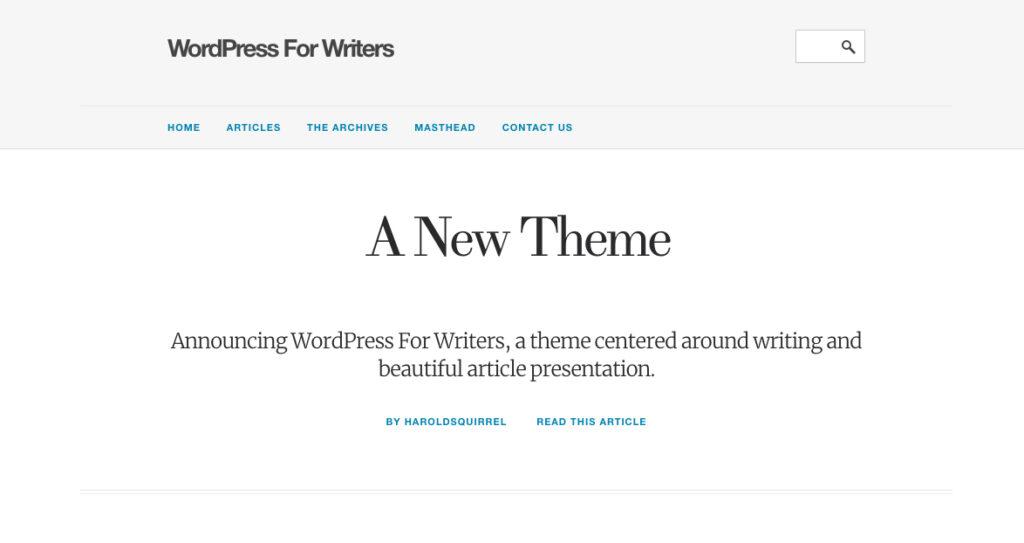 WordPress pour les écrivains