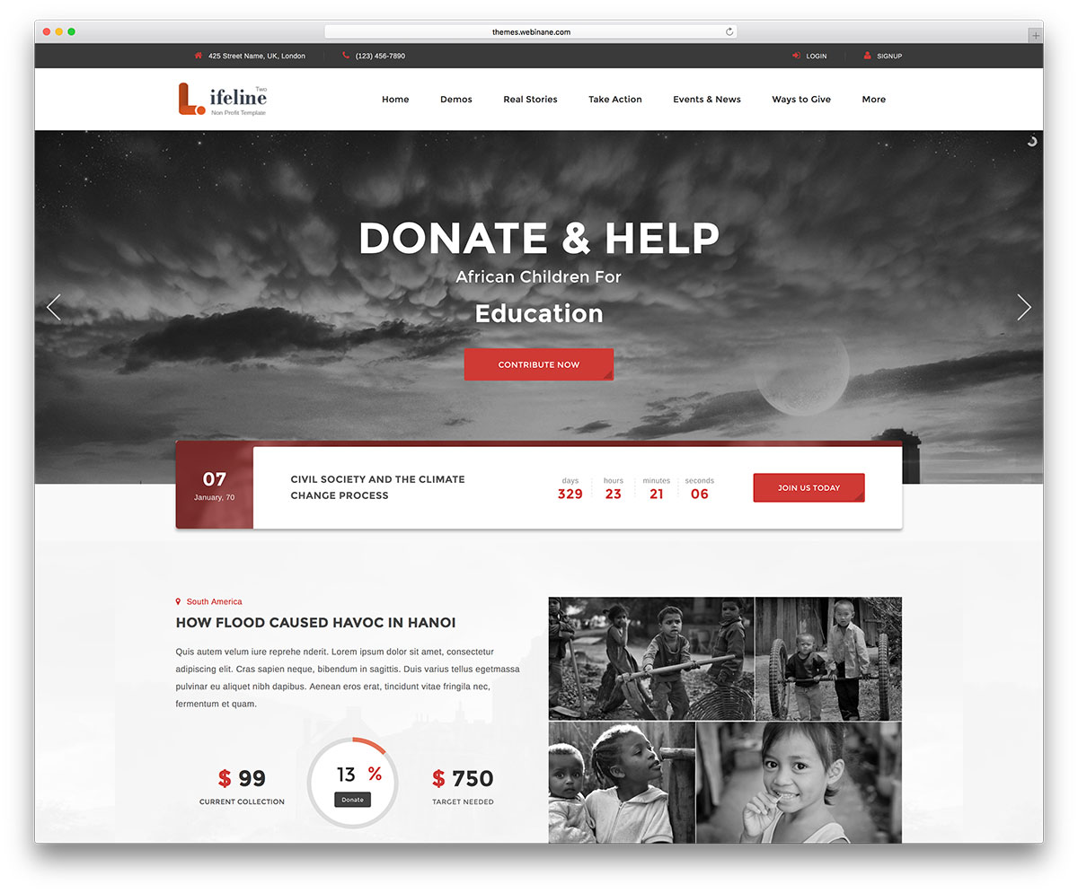 lifeline2-charity-wordpress-website-template