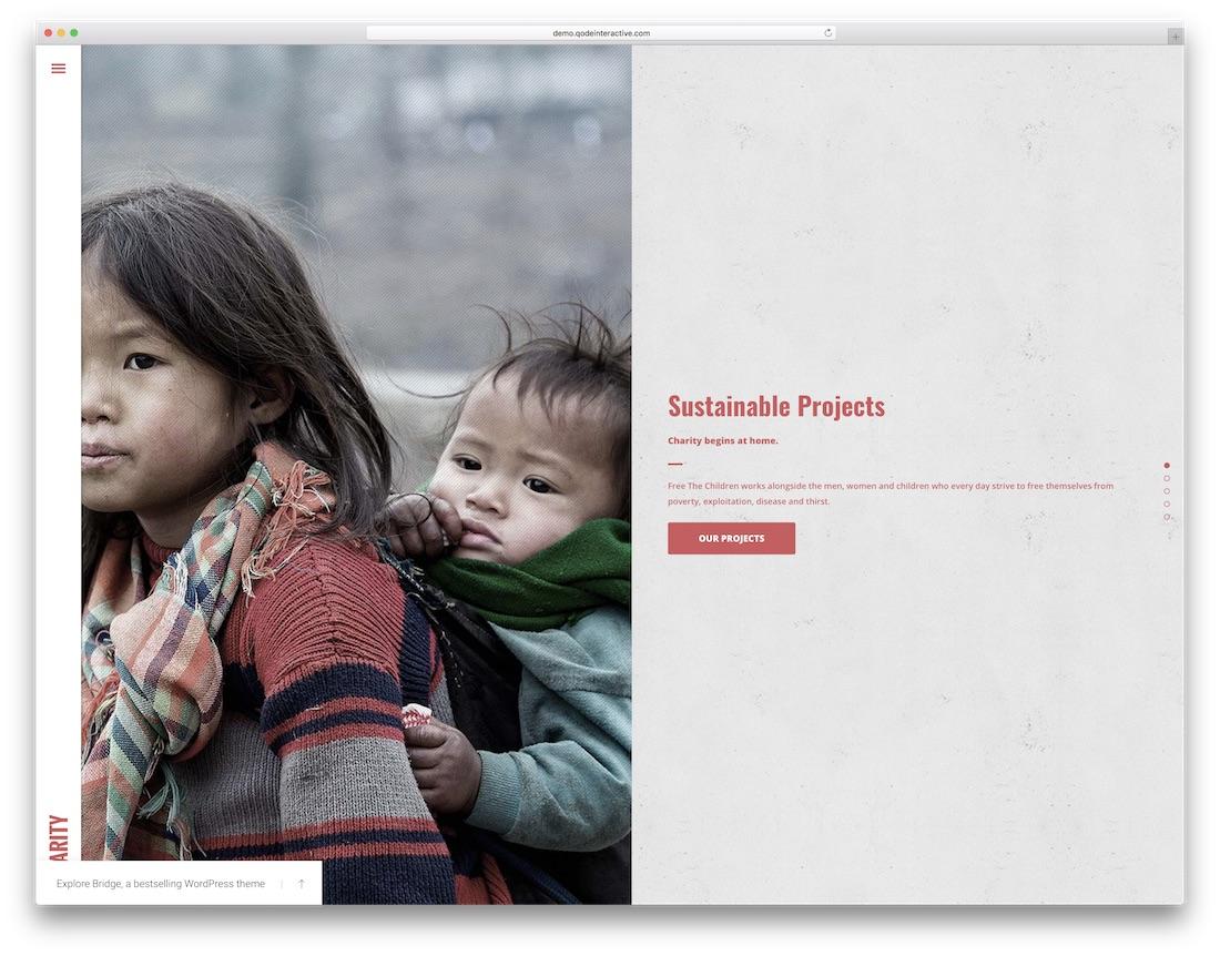 thème wordpress pont pour organisation caritative à but non lucratif