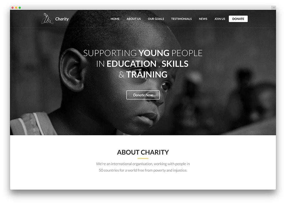 lambda - thème de charité d'une page
